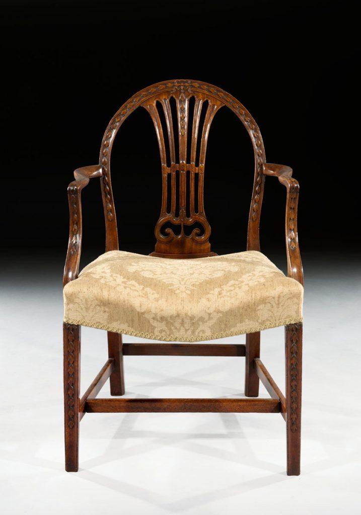 George Iii Adam Period 18th Century Carved Mahogany Desk